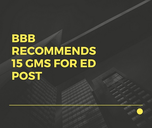 15 GMs recommended for ED Post by Bank Board Bureau